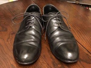 メンテナンス前の靴