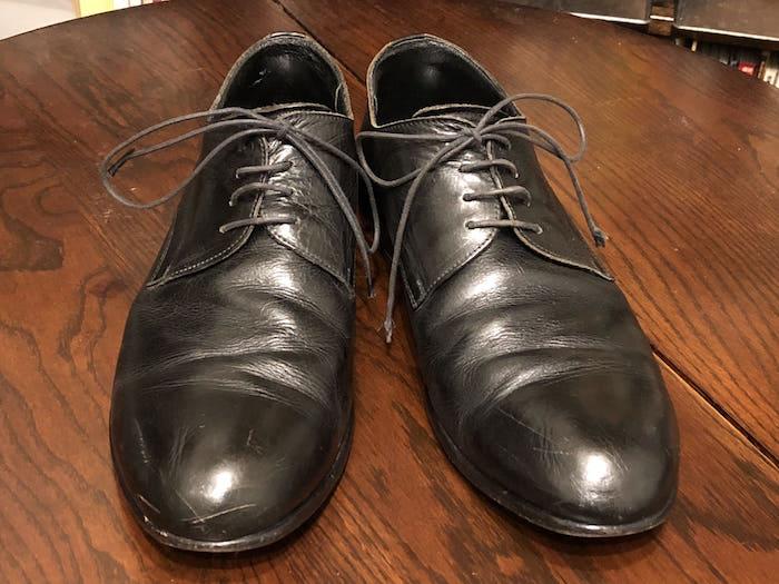 靴ビフォー