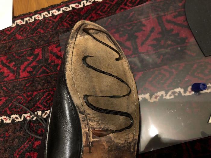 ダイアボンドを出した靴底
