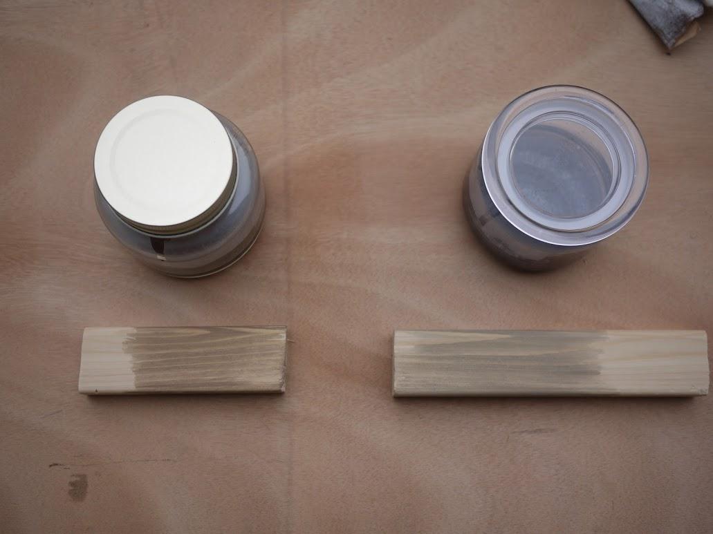 鉄媒染液を塗ったSPF材