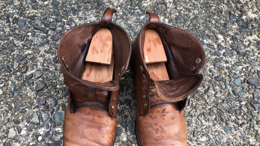 革靴 洗い終わり