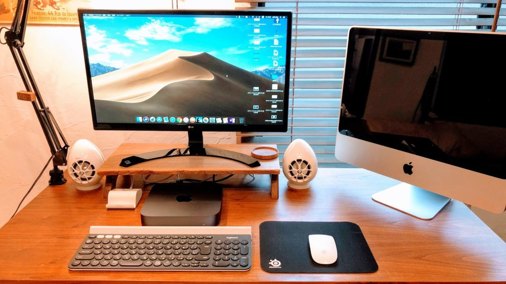 新旧Macを並べる