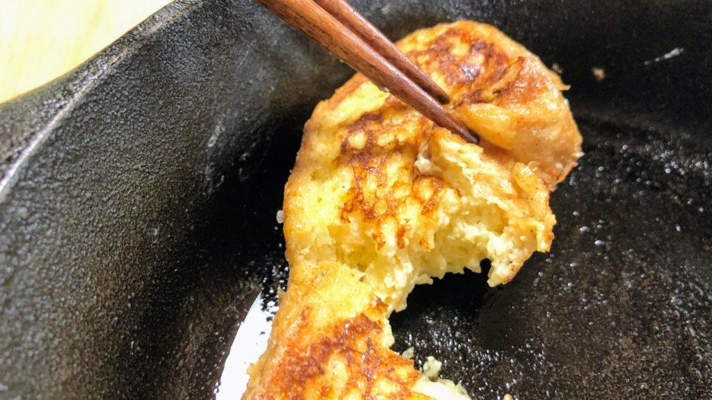 箸でちぎれるフレンチトースト