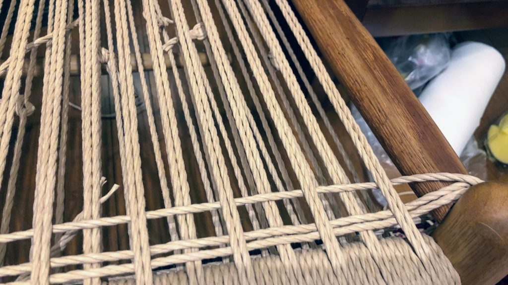 ヨコ糸の編み始め