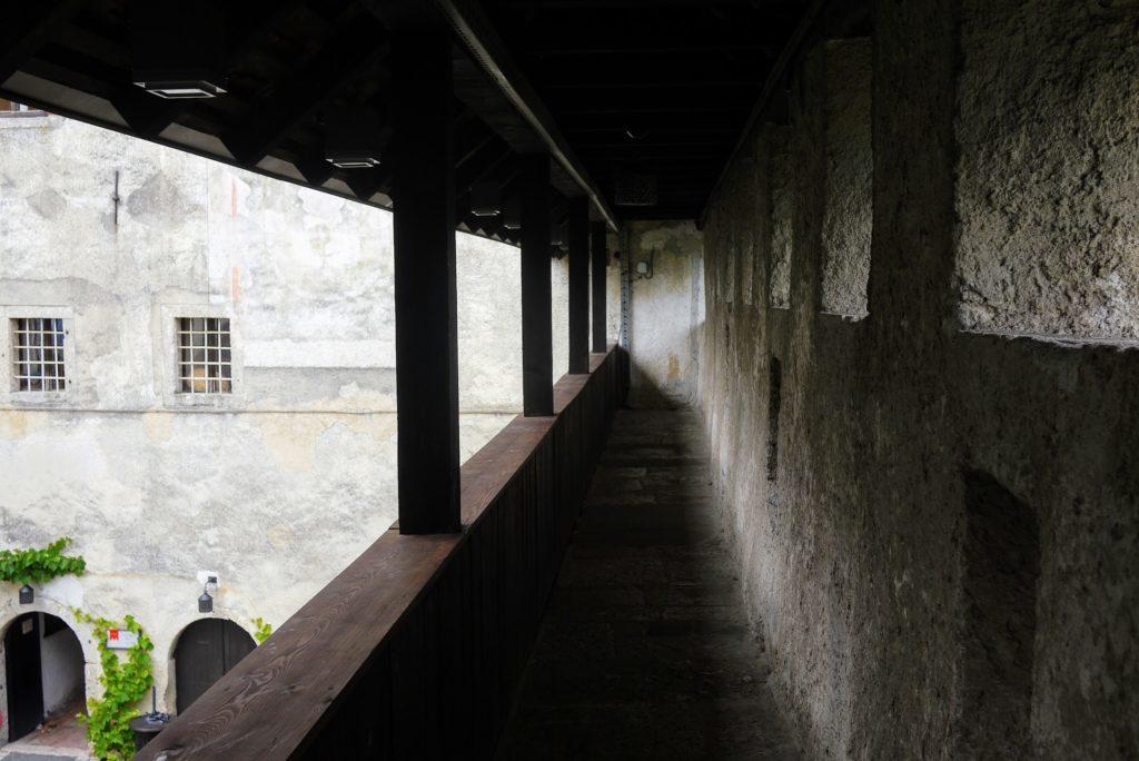 城壁の通路
