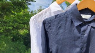 2色のプレミアムリネンシャツ