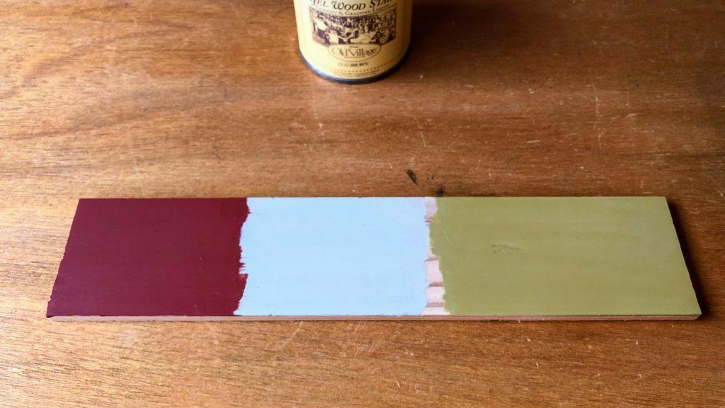 バターミルクペイントを塗った板