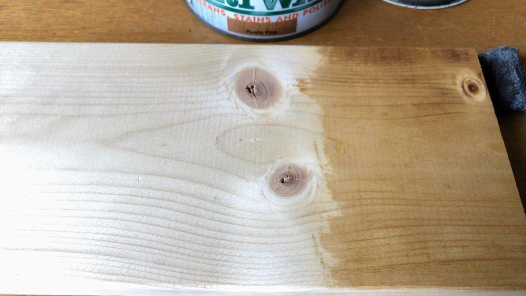ブライワックスを塗ったところ