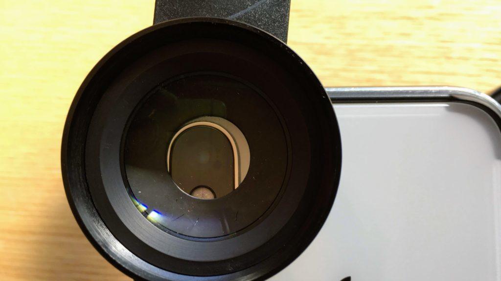レンズとカメラの中心を合わす