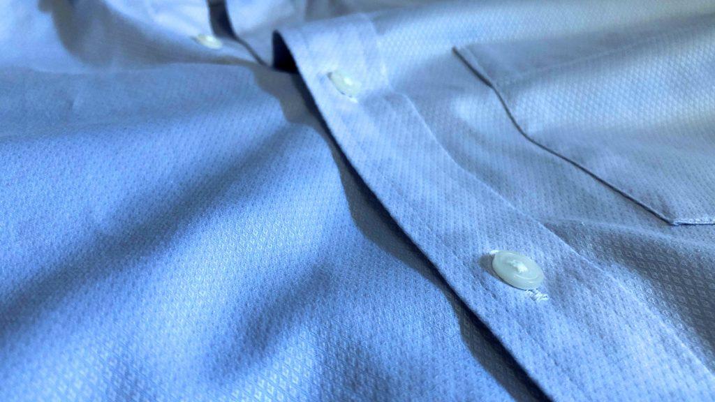 ストレッチスリムフィットシャツの生地アップ