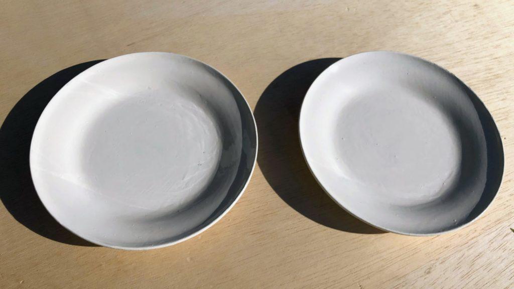 白カシュー塗りの皿