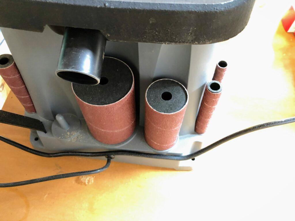 スピンドルサンダーの集塵ポート