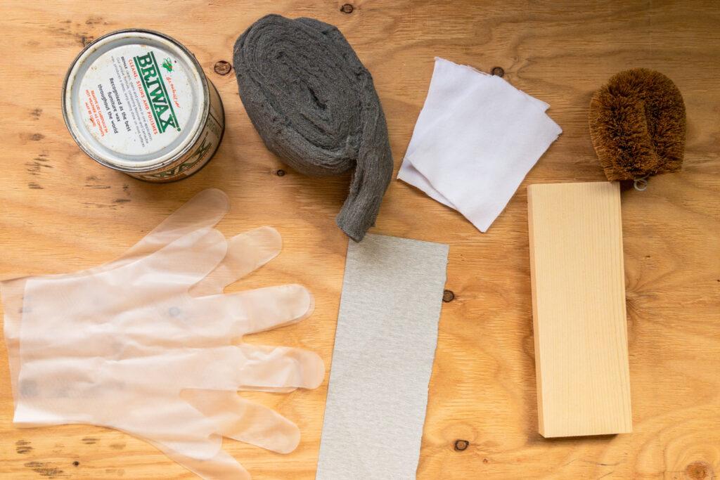 ブライワックス塗布の道具